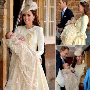 Kate Middleton /Katalin hercegnő ruhája a keresztelőn, György herceg keresztelője