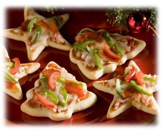 Karácsonyi pizza kreatívan