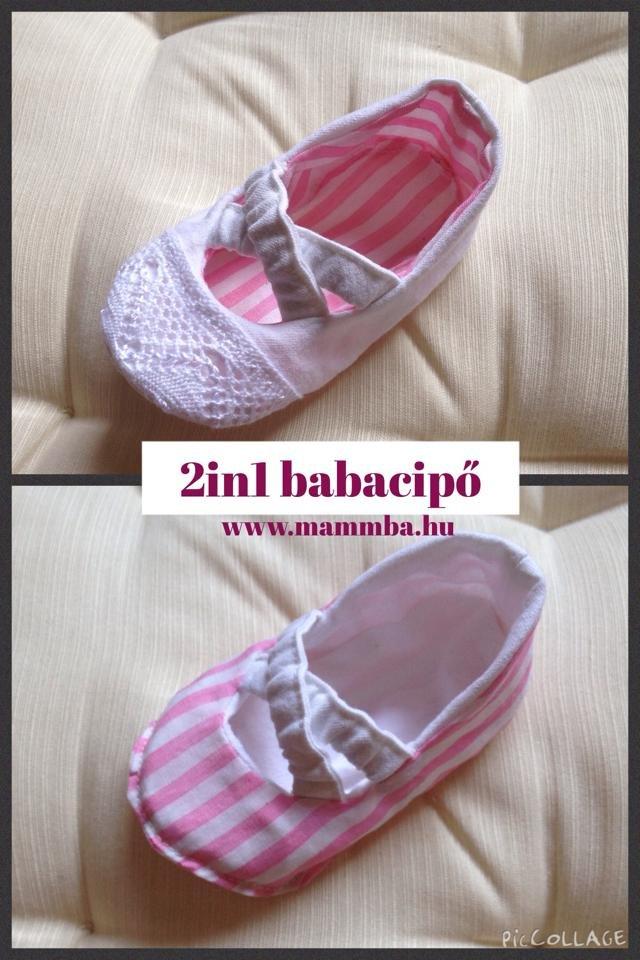 Alkalmi és hétköznapi Ki-be fordítható babacipő kislányoknak