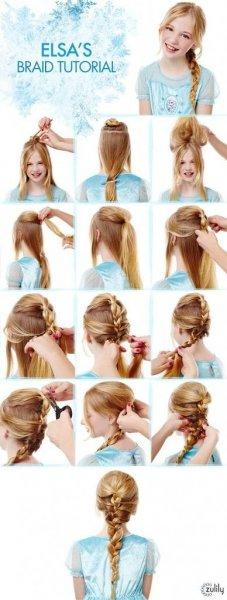 Jégvarázs Elza frizura hajfonás